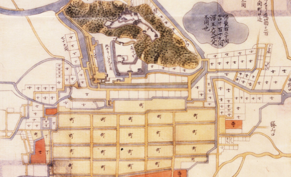 Old map of Ono Castle